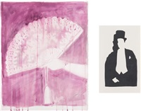untitled (fan) (+ untitled (tuxedo without face); 2 works) by ulla von brandenburg