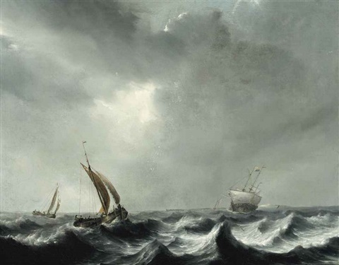 shipping in choppy waters by pieter mulier the elder