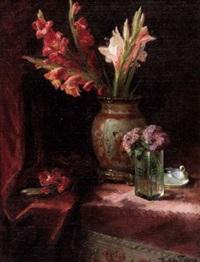 stillleben mit gladiolen by rosina del fabro