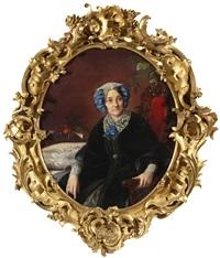 portrait of princess isabella adamovna gagarina by sergei konstantinovich zaryanko