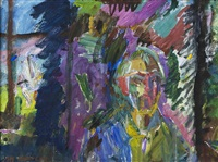komposition med ansikte by alf lindberg