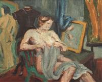 weiblicher akt im atelier by konrad maass