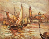 boats in venice by traian cornescu