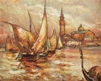 boats in venice by traian cornescu