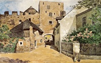 stadttor in dürnstein by karl götz