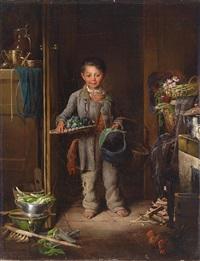 die kleine blumenverkäuferin by henriette kaergling-pacher