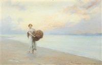 maiden on a beach by george edward robertson