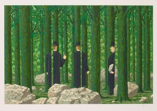 les enfants trouves portfolio of 12 by rené magritte