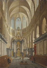 the choir of the saint bavo cathedral, ghent by angelus de baets
