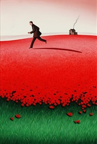 figure in a poppy field by dimitris geros