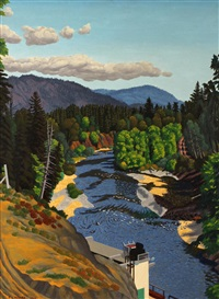 the cowichan river in july by edward john hughes