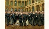 palais de la bourse à paris by marius barthalot
