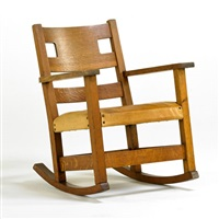 open arm rocking chair by charles limbert