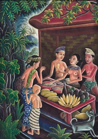 fruit seller by ida bagus made nadera
