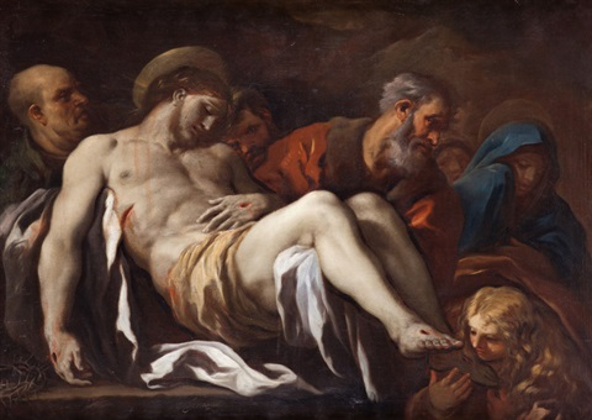 entierro de cristo by luca giordano
