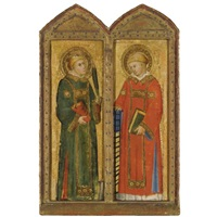saint stephen (+ saint lawrence; pair) by andrea di bartolo