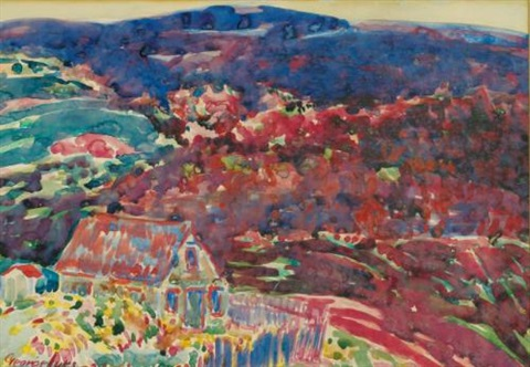 purple hills by george benjamin luks