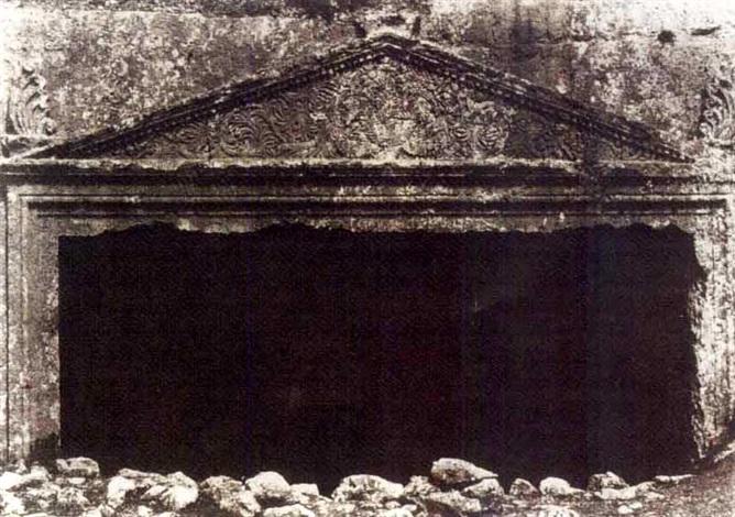 jérusalem: tombeau des juges, vue générale (+ tombeau des juges; 2 works) by auguste salzmann
