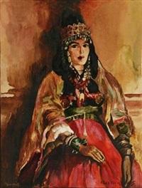 北非仕女 by alfred théodore joseph bastien