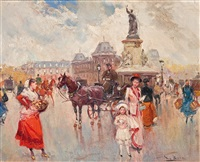 place de la rebuplique in paris by juan puig soler