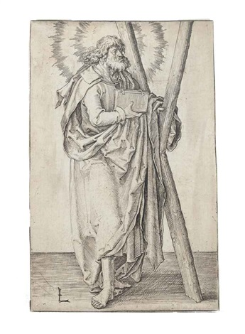 three plates from christ paul and the twelve apostles 3 works by lucas van leyden