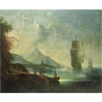 marina con figure e velieri by pietro antoniani
