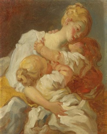 les baisers maternels or les jalousies de lenfance by jean honoré fragonard