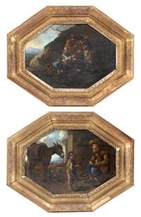 scènes paysannes (pair) by sébastien bourdon