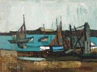 barques de pêcheurs by andré lemaitre