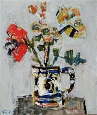 fleurs dans un vase by paul aïzpiri