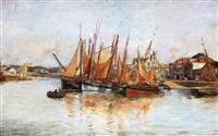 les pêcheurs aux sables d'olonne by lucien alphonse gros