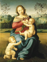 the madonna and child with the infant saint john the baptist by girolamo genga