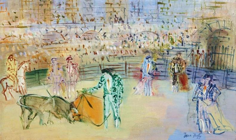 corrida espagnole by jean dufy