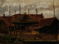 farmer on a yard by eduard karsen