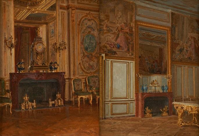 intérieurs à fontainebleau 2 works by walter gay