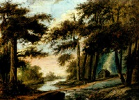 landskap med vattendrag by carl peter hillestrom