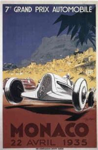 monaco grand prix 1935 by posters: sports - monaco grand prix