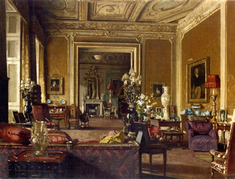 The Drawing Room at Londonderry House, Park Lane, London by