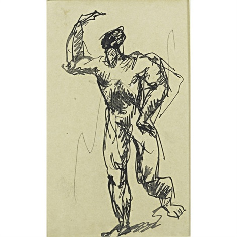 untitled study for peasant and oxen and two nudes by pablo picasso