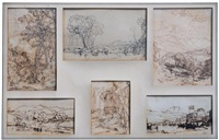 six paysages (6 works) by william leighton leitch