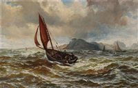 pollack-fishing off roundstone bay. connemara by john rose miles