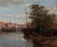 view of delfshaven by gerke henkes