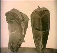 masques en carapace de totrue des iles damley by w. a. mansell