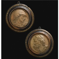 portrait roundels (pair) by artus quellin the elder