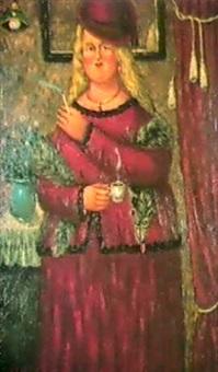 la femme rouge, 1989 by oscar arcila