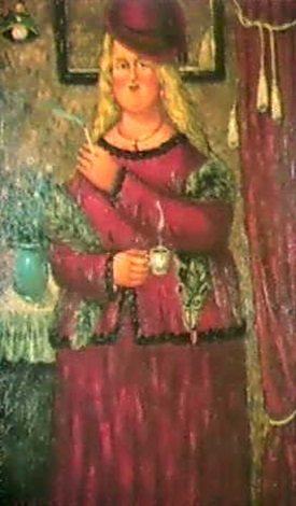 la femme rouge 1989 by oscar arcila