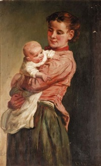 mother and child by john thomas peele