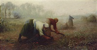 potato diggers, normandy by william brock