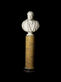 portrait bust of a minister possibly george neville-grenville, dean of windsor by edward hodges baily