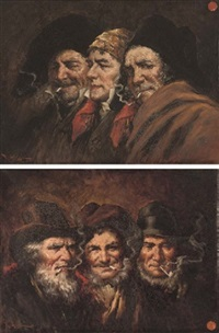 the smokers (+ another; pair) by roman arregui